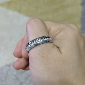 Jewelry - Silver and Crystal Ring NWT Size 12